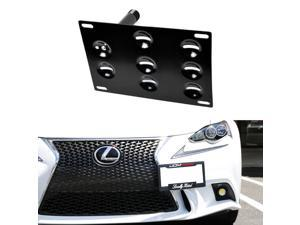 Flush Design Front Bumper Tow Hole Adapter License Plate Mounting Bracket For Lexus 2006-up IS and 2011-up CT