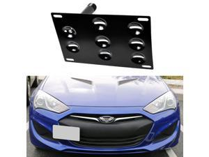 Front Bumper Tow Hole Adapter License Plate Mounting Bracket Holder For Hyundai Genesis Coupe