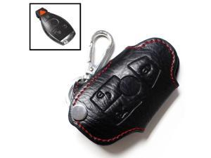 Genuine Leather Remote Smart Key Fob Case Holder Cover For Mercedes-Benz C E S CLA CLS ML GL GLK CLK SLK Class, etc