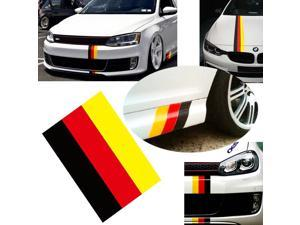 "(1) 10"" Germany Flag Color Stripe Decal Sticker For Euro Car Audi BMW MINI Mercedes Porsche Volkswagen Exterior or Interior Decoration"