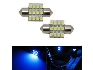 "12-SMD 1.25"" DE3175 DE3022 LED Interior Map Dome Lights, Ultra Blue"