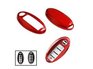 (1) Exact Fit Gloss Metallic Red Smart Key Fob Shell For Nissan 370Z Altima Cube GT-R Maxima Murano Pathfinder Rogue, etc