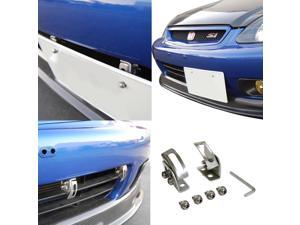 Universal Fit JDM Bumper License Plate Relocator Bracket Holder w/ Angle Adjustable For Hellaflush Style