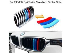 Exact Fit ///M-Colored Grille Insert Trims For BMW F30 3 Series 320i 328d 328i 335i and F32 4 Series 428i 435i w/ Standard Kidney Grill (11 Beams), NOT for the 8-Beam Black Grille