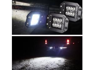 Dually Flush Mount 24W CREE LED Pod Lights For Truck Jeep Off-Road ATV 4WD 4x4 - Pair