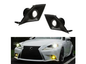Lexus F-Sport 15W High Power Projector LED Fog Light Kit For 2014-up Lexus IS200t IS250 IS300 IS350, 2500K Gold Yellow