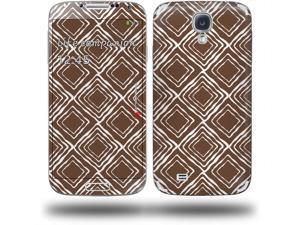 Wavey Chocolate Brown - Decal Style Skin (fits Samsung Galaxy S IV S4)