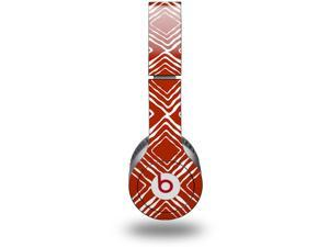 Wavey Red Dark Decal Style Decal Style Skin (fits genuine Beats Solo HD Headphones - HEADPHONES NOT INCLUDED)