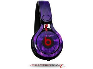 Flaming Fire Skull Purple Decal Style Skin (fits genuine Beats Mixr Headphones - HEADPHONES NOT INCLUDED)