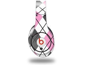Argyle Pink and Gray Decal Style Skin (fits genuine Beats Studio Headphones - HEADPHONES NOT INCLUDED)