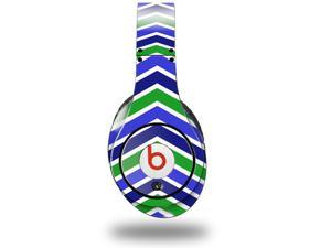 Zig Zag Blue Green Decal Style Skin (fits genuine Beats Studio Headphones - HEADPHONES NOT INCLUDED)