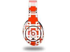Boxed Red Decal Style Skin (fits genuine Beats Studio Headphones - HEADPHONES NOT INCLUDED)