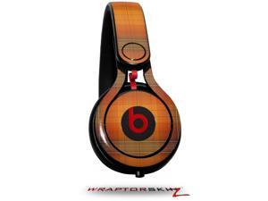 Plaid Pumpkin Orange Decal Style Skin (fits genuine Beats Mixr Headphones - HEADPHONES NOT INCLUDED)
