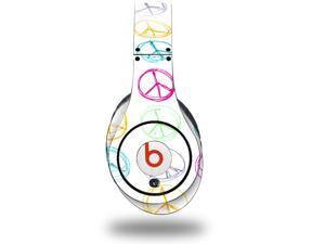 Kearas Peace Signs on White Decal Style Skin (fits genuine Beats Studio Headphones - HEADPHONES NOT INCLUDED)