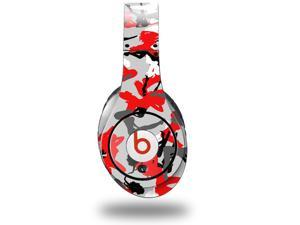 Sexy Camo Red Decal Style Skin (fits genuine Beats Studio Headphones - HEADPHONES NOT INCLUDED)
