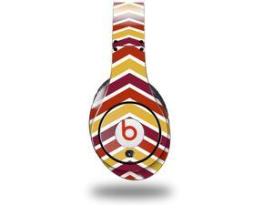 Zig Zag Yellow Burgundy Orange Decal Style Skin (fits genuine Beats Studio Headphones - HEADPHONES NOT INCLUDED)