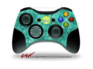 XBOX 360 Wireless Controller Decal Style Skin - Triangle Mosaic Seafoam Green - CONTROLLER NOT INCLUDED