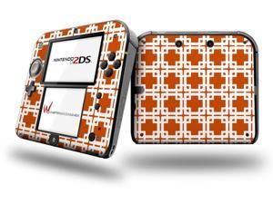 Boxed Burnt Orange - Decal Style Vinyl Skin fits Nintendo 2DS