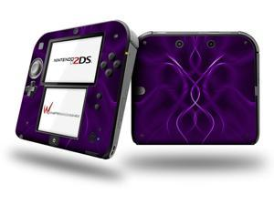 Abstract 01 Purple - Decal Style Vinyl Skin fits Nintendo 2DS