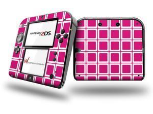 Squared Fushia Hot Pink - Decal Style Vinyl Skin fits Nintendo 2DS