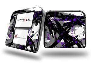 Abstract 02 Purple - Decal Style Vinyl Skin fits Nintendo 2DS