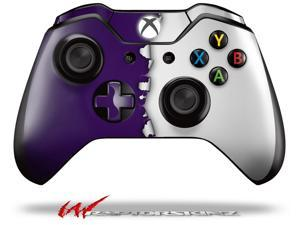 Ripped Colors Purple White - Decal Style Skin fits Microsoft XBOX One Wireless Controller - CONTROLLER NOT INCLUDED