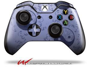 Feminine Yin Yang Blue - Decal Style Skin fits Microsoft XBOX One Wireless Controller - CONTROLLER NOT INCLUDED
