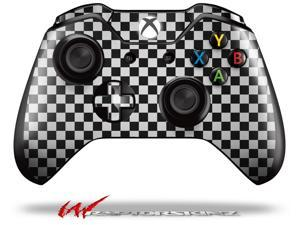 Checkered Canvas Black and White - Decal Style Skin fits Microsoft XBOX One Wireless Controller - CONTROLLER NOT INCLUDED  - OEM