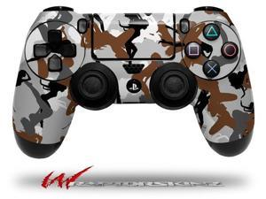 Sexy Girl Silhouette Camo Brown - Decal Style Wrap Skin fits Sony PS4 Dualshock 4 Controller - CONTROLLER NOT INCLUDED