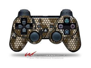 Sony PS3 Controller Decal Style Skin - HEX Mesh Camo 01 Brown (CONTROLLER SOLD SEPARATELY)