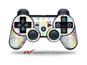 Sony PS3 Controller Decal Style Skin - Kearas Hearts White (CONTROLLER SOLD SEPARATELY)