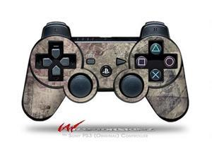 Sony PS3 Controller Decal Style Skin - Pastel Abstract Gray and Purple (CONTROLLER SOLD SEPARATELY)