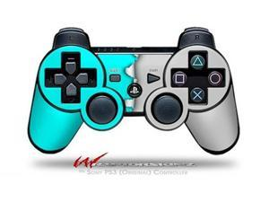 Sony PS3 Controller Decal Style Skin - Ripped Colors Neon Teal Gray (CONTROLLER SOLD SEPARATELY)