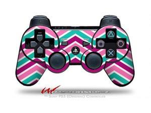 Sony PS3 Controller Decal Style Skin - Zig Zag Teal Pink Purple (CONTROLLER SOLD SEPARATELY)