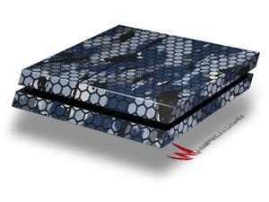 HEX Mesh Camo 01 Blue - Decal Style Skin fits original PS4 Gaming Console