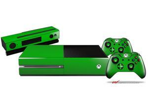 Solids Collection Green - Holiday Bundle Decal Style Skin Set fits XBOX One Console, Kinect and 2 Controllers (XBOX SYSTEM SOLD SEPARATELY)