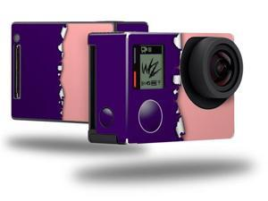 Ripped Colors Purple Pink - Decal Style Skin fits GoPro Hero 4 Black Camera (GOPRO SOLD SEPARATELY)