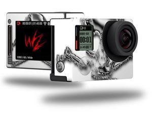 Chrome Skull on White - Decal Style Skin fits GoPro Hero 4 Silver Camera (GOPRO SOLD SEPARATELY)