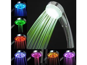 AMC LED Bathroom Shower Head - Lights up in 7 Colors with Automatic Changing