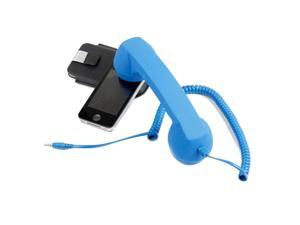 Mic/Speaker Retro Style Handset Volume Remote Control Headphones for Phone with 3.5mm Jacks