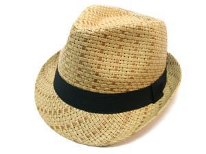 Unisex Fedora Hat Trilby Style Upturn Short Brim Cap Hat, 8-BrownLXL