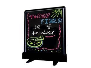"FlashingBoards® Flashing Illuminated Erasable Neon LED Message Writing Board Restaurant Menu Sign with Stand 14"" x 12"""