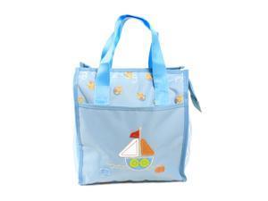 AMC Newborn Baby / Infant Diaper Tote Bag w/ Zipper Closure,Front Pocket, Blue