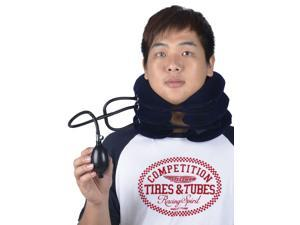 AMC Portable Cervical Neck Traction Comforter Stretching Pain Stress Relief, Three Tubes Metal Controler