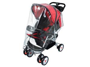 AMC Universal Clear Waterproof Rain Cover Wind Shield Fit Most Strollers Pushchairs Shield