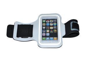 Running/Gym/Jogging Exercise Arm Band Holder Case for Apple iPhone 5 - White