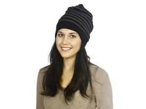 Hip Hop Beanie in Loose Fit with Open End, Dark Grey