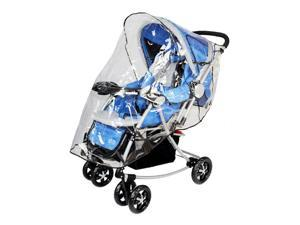 Single Stroller Pushchair Weather Shield Rain Cover Canopy Universal Size