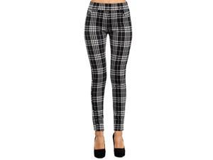 Black and white plaid leggings in soft stretch ankle length Valentine's Day Gift