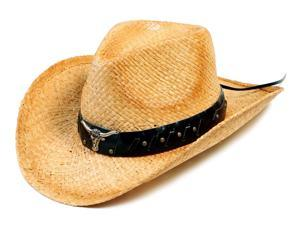 Jacobson Mid-Brim Unisex Ladies Men folding Straw Hat with Leather Band Summer Cap